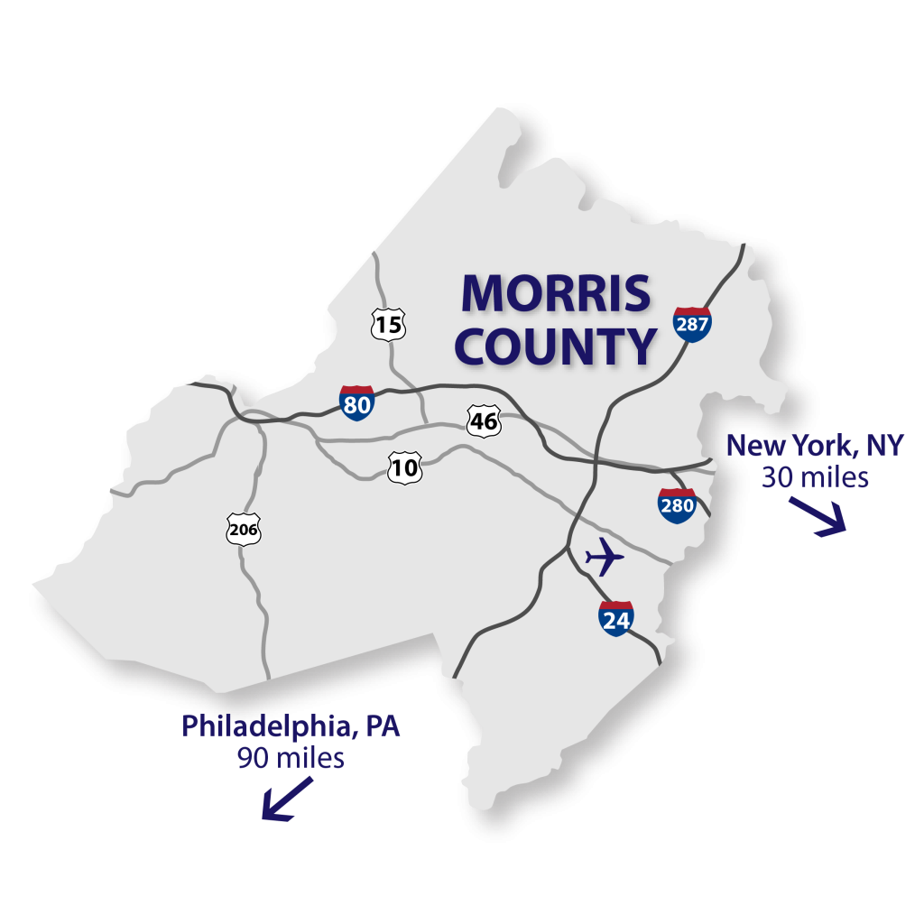 Map of Morris County